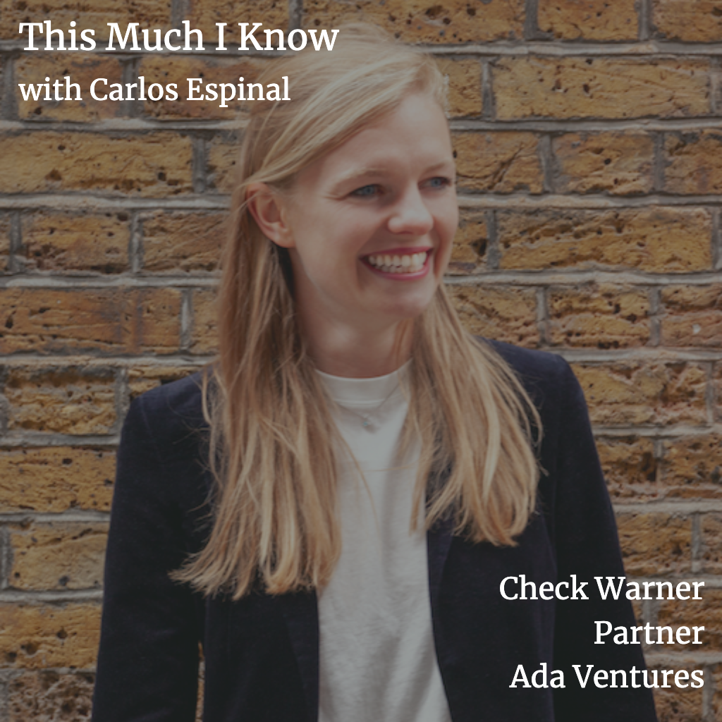 This Much I Know: Check Warner on her mission to provide access to opportunities to all with Ada Ventures