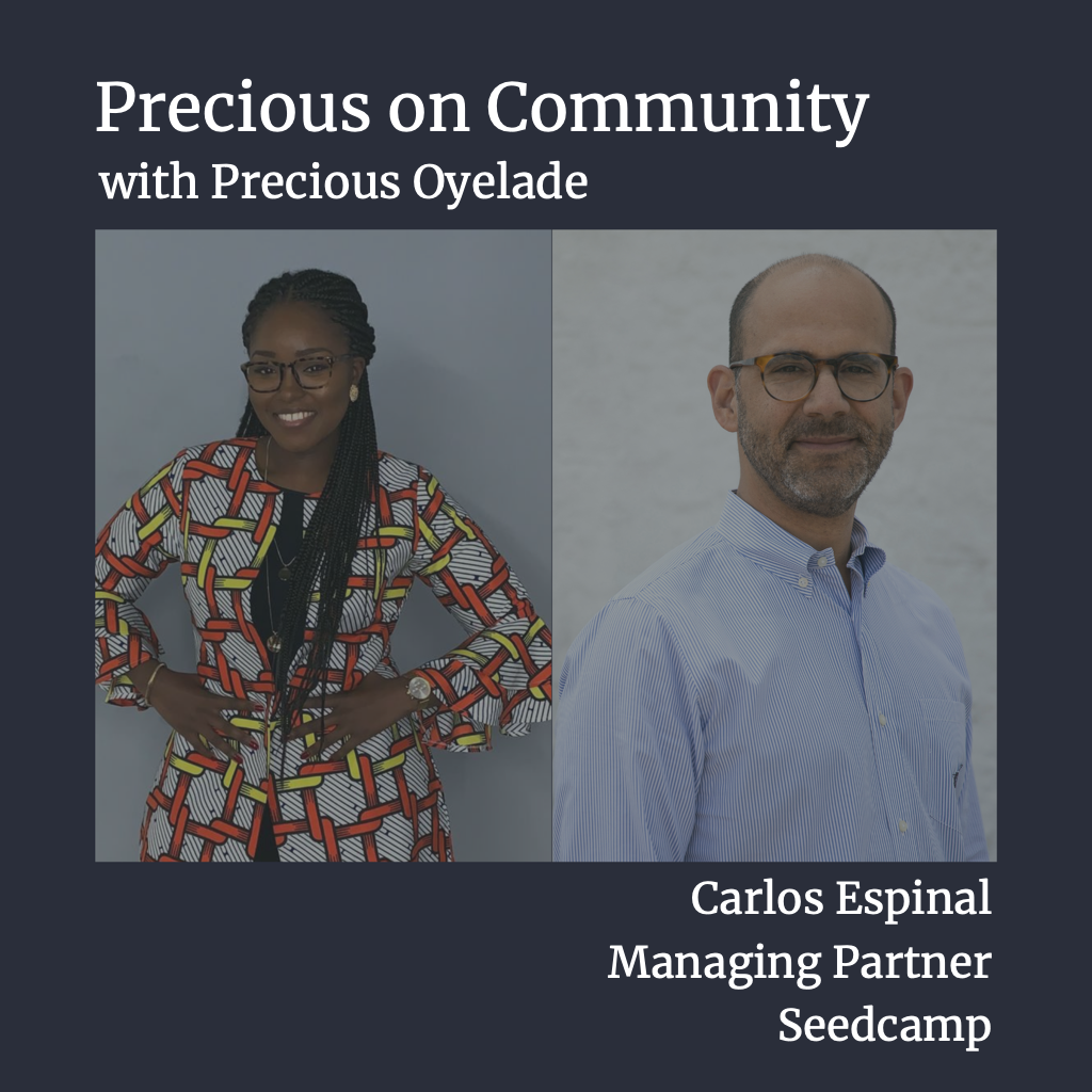 Seedcamp Sessions: Introducing Precious on Community: What does community mean?