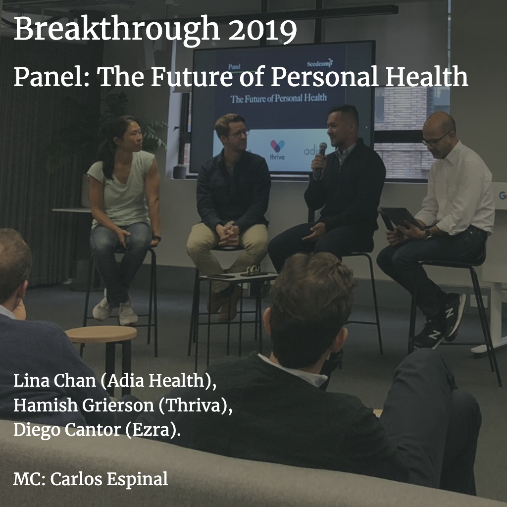 The future of personal health - live panel at Seedcamp Breakthrough 2019